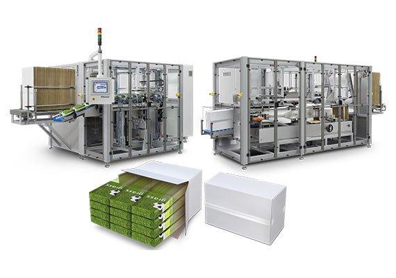 Kartonowanie zbiorcze - systemy do grupowania produktów Radpak - producent maszyn kartonujących